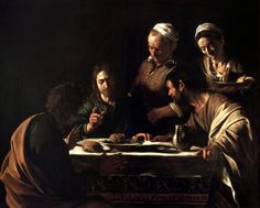 Caravaggio - Los discípulos de Emaús (Milán) - 1606