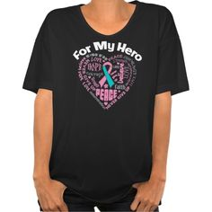 Hereditary Breast Cancer For My Hero Shirts #hereditarybreastcancer #hereditarybreastcancerawareness