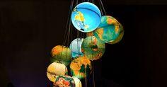 Upcycled Globe Lighting