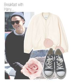 """""""Breakfast with Harry..."""" by nika-brel ❤ liked on Polyvore featuring Topshop, Monki, Ray-Ban, Dorothy Perkins, Converse, Accessorize, harrystyles and 550"""