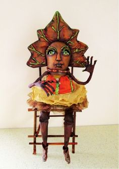 """PAPER PATTERN /""""UNICE/"""" BY SUSAN BARMORE *NEW* CLOTH FOLK ART DOLL"""