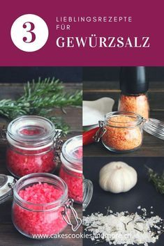 Kitchen Gifts - Cakes, Cookies and more- Geschenke aus der Küche – Cakes, Cookies and more Gifts from the kitchen – favorite recipe for seasoned salt – raspberry salt, chili salt and rosemary garlic salt # seasoned salt salt salt - Chili, Diy Pinterest, Biscuits, Seasoned Salt, Gift Cake, Garlic Salt, Kitchen Gifts, Diy Food, Allrecipes