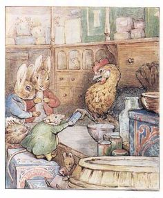 Peter Rabbit and Benjamin Bunny from Ginger and Pickles by Beatrix Potter Beatrix Potter Illustrations, Beatrice Potter, Peter Rabbit And Friends, Benjamin Bunny, Children's Book Illustration, Woodland Illustration, Counted Cross Stitch Patterns, Illustrators, Fairy Tales