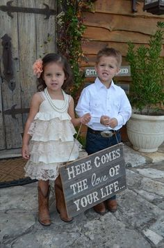 attire for flower girl and ring bearer :)