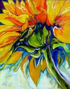 American Art Moves!: M BALDWIN ORIGINAL SUNFLOWER ART