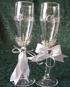Detodomanualidades: Como decorar copas para bodas