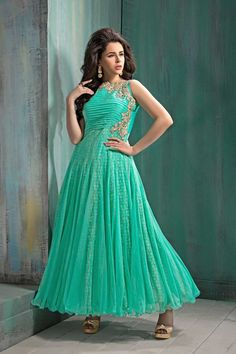 Buy Latest party wear gowns online from India, heavy work Indian gowns for wedding reception, bridesmaid and evening wear with finest fabric and designs. Wedding gowns, reception gowns are available Party Wear Evening Gowns, Party Gowns, Designer Lehnga Choli, Designer Gowns, Anarkali Dress, Lehenga, Anarkali Churidar, Latest Anarkali Suits, Salwar Suits