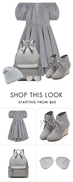 """""""Untitled No. 436"""" by rhiannonquinn ❤ liked on Polyvore featuring Caroline Constas, WithChic, Victoria Beckham and Accessorize"""