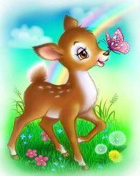Diamond Painting By Numbers. Cartoon Drawings, Cute Drawings, Baby Disney Characters, Bambi Disney, Creative Poster Design, Art Corner, Cute Cartoon Wallpapers, Cute Illustration, Cute Stickers