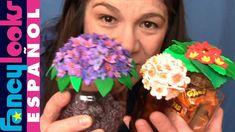 Cómo hacer Flores de goma Eva en tapas de tarros de vidrio reciclados