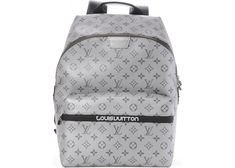 Buy and sell authentic handbags including the Louis Vuitton Backpack Apollo  Outdoor Monogram Reflect Silver Black in Coated Canvas with Silver-tone and  ... d2793a7b75a04