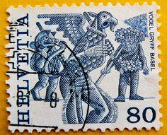 stamp Helvetia Switzerland