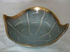 Vintage Dumler & Breiden Blue, Gold and Black Bowl from Germany 1308 - 19 by VintageMTL on Etsy