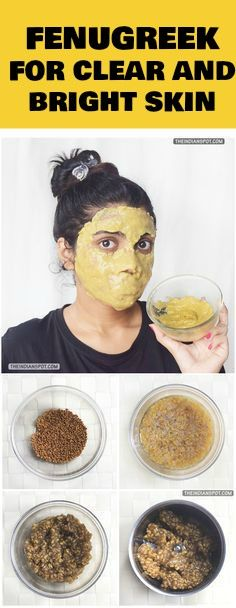 The mask makes skin very soft and smooth. Instantly brightens up the skin. Reduces redness and inflammation of acne and heals it within a day or two. Can be used even if you have very severe acne. Its constituents include protein, vitamin C, fiber, iron, potassium, lysine, L-tryptophan and alkaloids. Fenugreek kills all the germs on skin thus clearing it up. It also reduces oiliness and adds a natural glow to your skin.