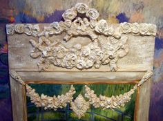 My Antique French Trumeau mirror, with my Monet paintings, hope you enjoy my work. From Ciel de lit.