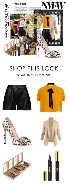 """""""Untitled #684"""" by inaifashion ❤ liked on Polyvore featuring 8, Elvi, GEDEBE, Philippe Audibert, Yves Saint Laurent, NYFW, contest, contestentry and fashionset"""