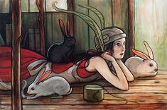 Kelly Vivanco | ACRYLIC | Rabbit Ears
