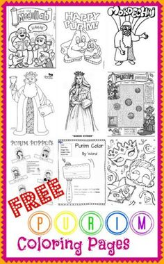torah tots purim coloring pages - the happy bad day and housewife on pinterest