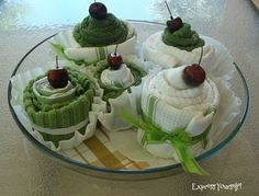 Easy little craft for baby showers and bridal showers. Who couldn't use more dish towels?