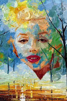 Marilyn Monroe Pop Art .