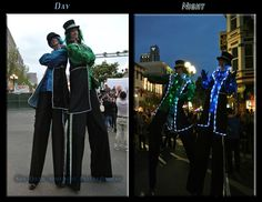 Lighted stilt walkers by San Diego Spotlight Entertainment