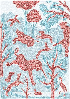 Type in illustration by Sarah King, London via Art-Sponge Art And Illustration, Food Illustrations, Graphic Design Illustration, Sarah King, Edgar Degas, Typography Inspiration, Typography Design, Design 3d, King Art