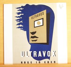 ULTRAVOX Rage in Eden Vinyl LP The Voice The thin Wall Stranger within Your Name