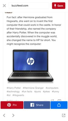 Well then I do have a Harry Potter laptop