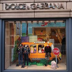 "DOLCE&GABBANA, New York, ""The Schoolbus"", photo by WOWindow, pinned by Ton van der Veer"