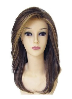 Synthetic long lush below the shoulder length styles front lace line wig