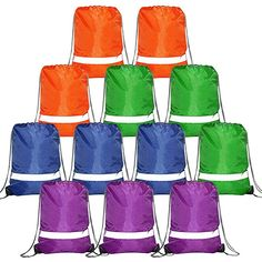 Amazon.com   Brown-Personalized-Drawstring-Bags-Backpack Reflective 10  Pack, Promotional Gym Pack Cinch Bags String School Bag   Drawstring Bags e8c2408568