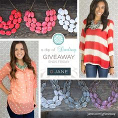 I just entered this giveaway from Jane.com and a Dip of Darling! http://splur.gy/r/2kLw5/r/2KV1pRJTHgN