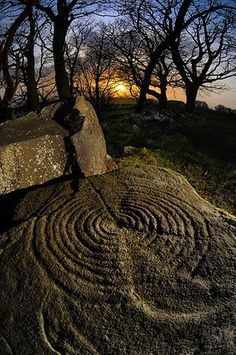 There are the circles again, we walk in footsteps of our ancestors, they knew it long before we came to this world. >Drumcarbit Rock Art, Malin, Co. Donegal