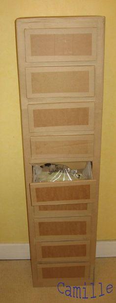 Tuto meuble domino en carton - conseils top pour fabriquer des meubles sur ce site