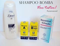 Shampoo bomba com monovin a para  o cabelo crescer mais rápido, aprenda como fazer.