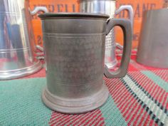 English Semi Planished Pewter Tankard Mug Half Pint Made in Sheffield in Collectables, Breweriana, Drinkware/ Glasses/ Steins | eBay