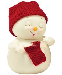 Department 56 Snowpinions Christmas Collection The Knitter's Scarf Figurine