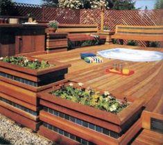 Above Ground Pool Deck.Build A Deck. Above Ground Pool Landscaping, Above Ground Pool Decks, In Ground Pools, Wood Deck Designs, Pergola Designs, Pool Designs, Pool Landscape Design, Terrace Design, Garden Design