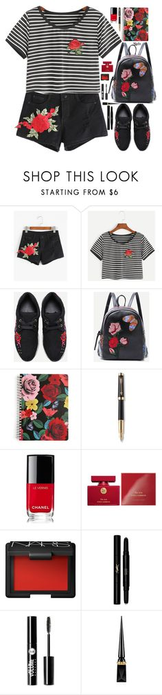 """""""Fashion trend : Embroidered roses"""" by gabygirafe ❤ liked on Polyvore featuring Vera Bradley, Parker, Chanel, Dolce&Gabbana, NARS Cosmetics, Yves Saint Laurent, Charlotte Russe, Christian Louboutin, Sheinside and shein"""