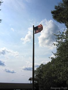 The Harold F. Gibling Flagpole at Camp #Yawgoog.  A 2014 image by David R. Brierley.