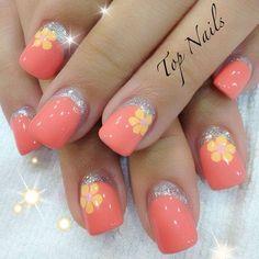 nice 50 Flower Nail Art Designs | Art and Design