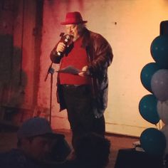 """@dandebuf's photo: """"watching a hipster george rr martin do a dramatic poetry reading. well played, melbourne fringe. #mfringe"""""""