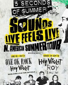 This summer is gonna be a fun one! #oneokrock #5sos