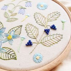 Beaded berries #embroidery #handembroidery #beads #seedbeads #flowers #wildflowers #berries #hoopart #embroideryhoopart #embroideryhoop #craftsposure #modernmaker #embroiderersofinstagram #embroideryinstaguild