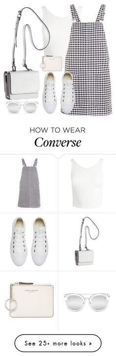 """""""Untitled #3501"""" by theaverageauburn on Polyvore featuring Sans Souci, Topshop, Converse, Kendall + Kylie, Marc Jacobs and Quay"""