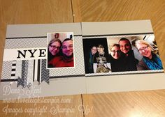 Dana Kent Independent Stampin' Up! Demonstrator Howlstooth & Scaringbone NYE Scrapbook Layout