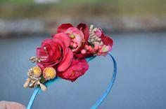 Tyrkysová víla - čelenka Rose, Flowers, Plants, Pink, Plant, Roses, Royal Icing Flowers, Flower, Florals