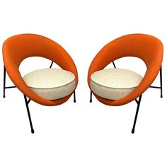 Model 'Saturne' Rare Pair of Chairs by Genevieve Dangles and Christian Defrance | 1stdibs.com