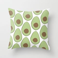 Avocado+Throw+Pillow+by+LEIGH+ANNE+BRADER+-+$20.00
