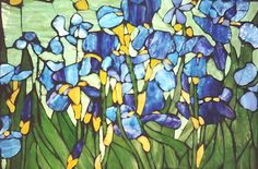 Iris Garden Tiffany style mosaic